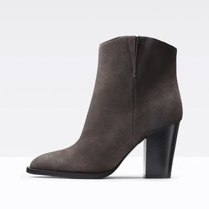 """Vince """"Erving"""" Gray Suede Ankle Boots 6M"""